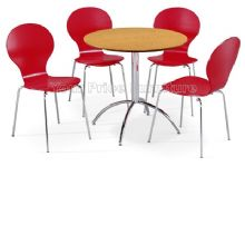 Kimberley Dining Set Natural Table & 4 Red Chairs 1/2 Price Deal